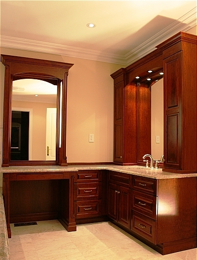 Quiet Comfort and Elegance in this lovely custom Bathroom design