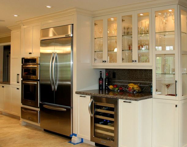 Modern Kitchen Cabinetry Contrasting Island