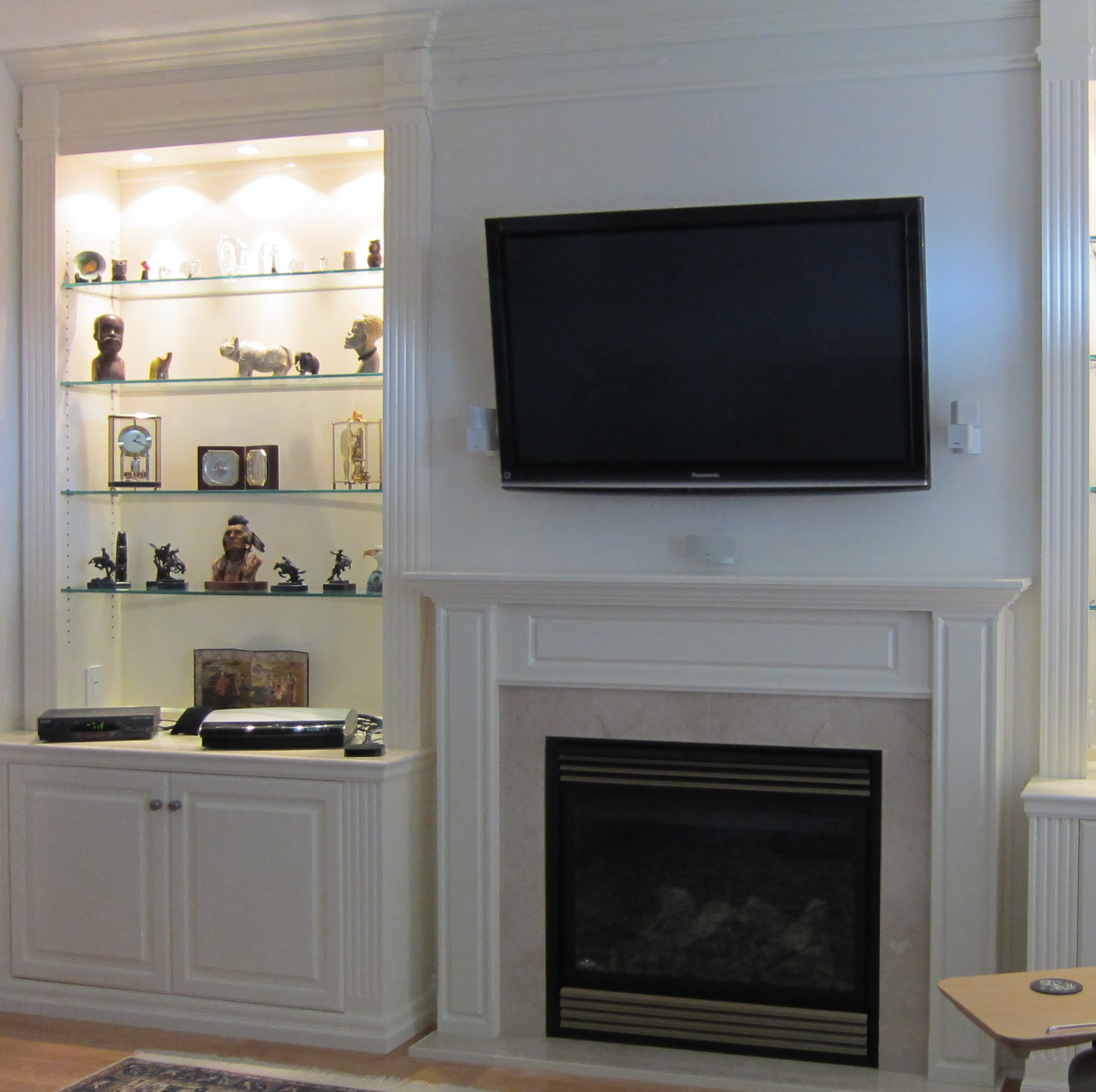 Gas Fireplace Mantels With Tv Above Viewing Gallery