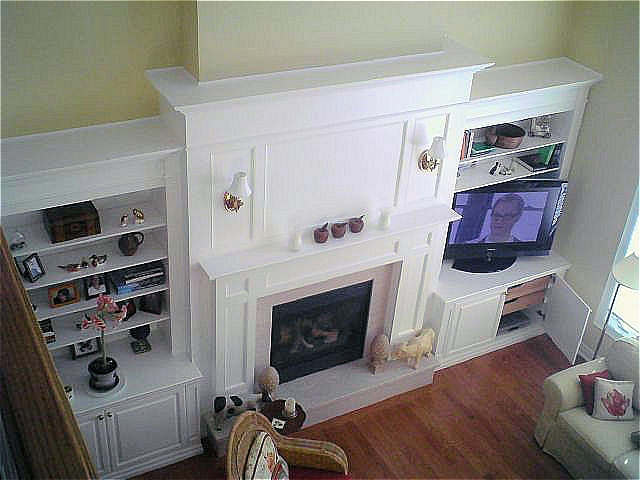 Wall Unit Fireplace Mantel In Cherrywood By Reece 39 S Fine Woodworking