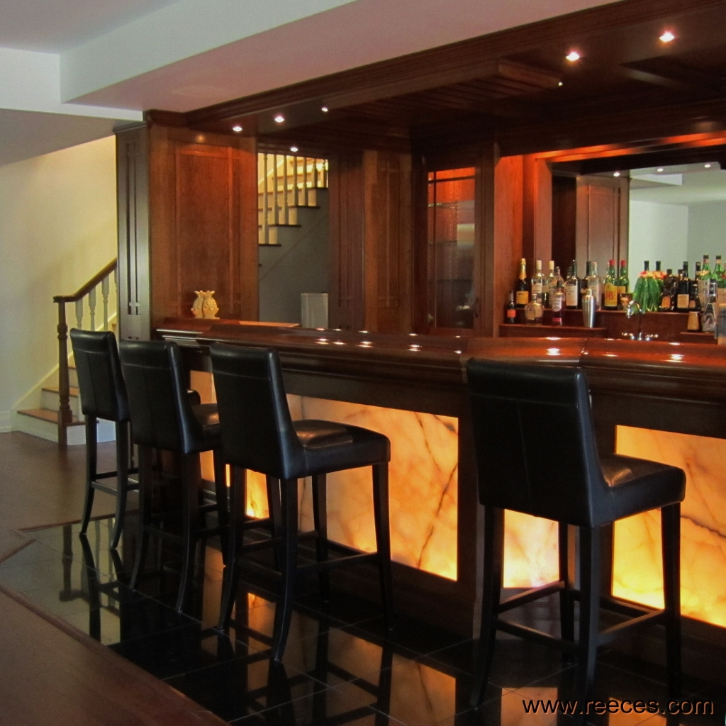 Arts U0026 Crafts Style Bar With Back Lit Onyx Panelling Reeeceu0027s Beautiful Home  Bars