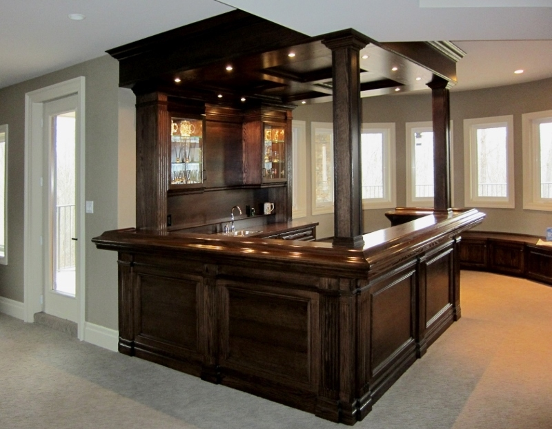 Dark Stain On Oak Finish Home Bar Reeeceu0027s Beautiful Home Bars Are Ideal  For Entertaining Friends