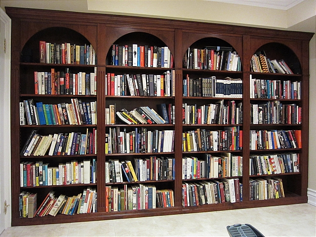 Floor To Ceiling Bookshelves Plans: Reeces Fine Interiors And Woodworking