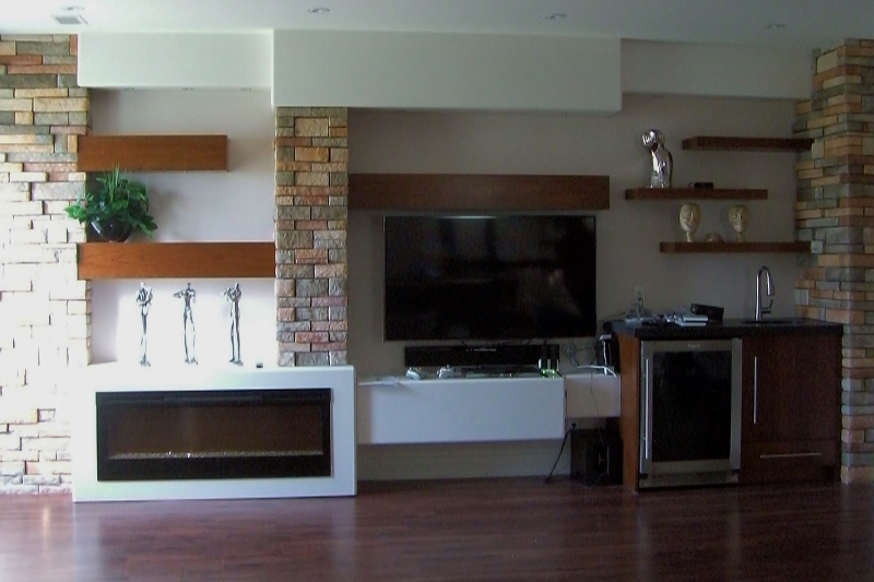Modern Contemporary Wall Unit With Stone Elements Reeces