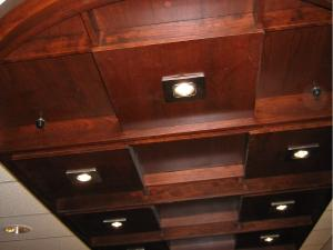 Custom-designed overhead lighting