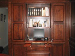 Beautiful wall cabinetry combined with office functionality