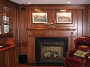 The Fireplace Mantel glamourizes relaxation by the fire. Enjoy sitting and relaxing in this beautiful setting