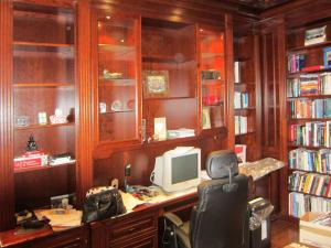 A well used and busy home office in cherrywood