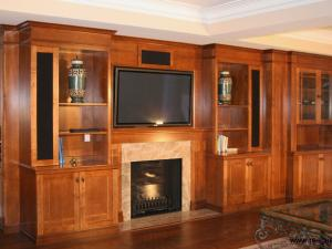 """Modern Wall Unit in the """"Arts and Crafts"""" Style Elegant Woodworking Clean Simple Lines"""