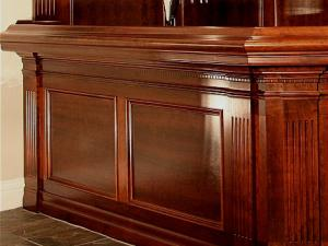 Showcasing exquisite woodworking finish