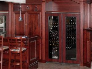 Reece's new home-bar design and basement renovations-- A closer look at the lovely wine storage unit in this home wine bar.