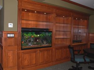 Aquarium Unit and Model Ship Display - built into wall units shown, perfect for the hobbiest, reflecting the personality of the discerning home owner