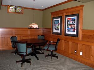 Reece's Custom Home Renovation: A game table was included from Reece's Woodworking in the design for entertaining friends, family and guests.