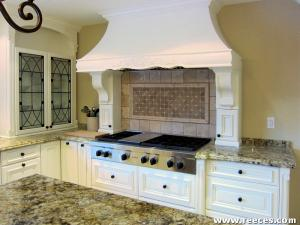 Featured mosaic inlay with surrounding stone mouldings