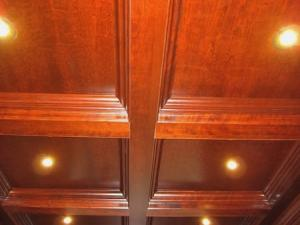 Coffered Ceilings with built-in pot lights, modern convenience and style