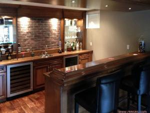 Custom modern bar by Reece's, for a warm & intimate gathering