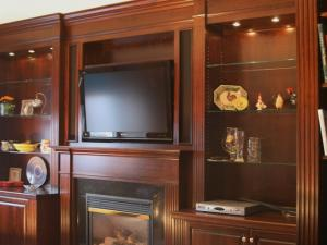 Solid Cherry Wall &TV Unit