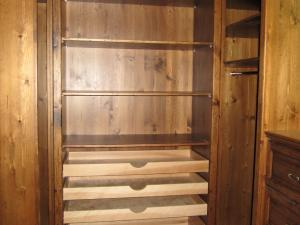 Walk-in closets, custom designed, creating a complete dressing room