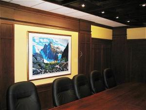 Boardroom Elegance, Reeece's Custom Woodworking - Enhanced Lighting