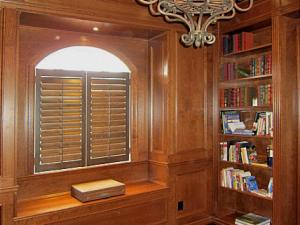 Coffered Ceiling, Built-In Bench, Panelled Walls Reeece's custom design, Newmarket, Toronto, Aurora, GTA