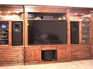 Custom Solid Wood Home Theater