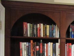 Note the detail woodworking in the bookshelves store and display all your books with floor to ceiling bookshelves