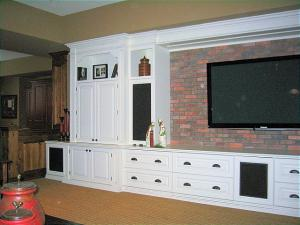 Modern Clean Styling Combining painted wood and brick with simple clean lines for an updated look