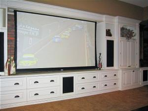 Home Theatre from television stand to home theatre, combining beauty and functionality