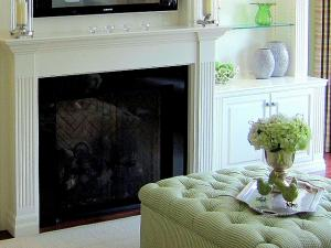 Clean simple lines and modern styling, fireplace elegance - note detailing in the woodworking
