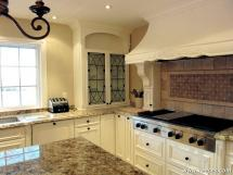 Classic Cabinetry, Elaborate Design Elements - Fully custom designed & hand-crafted canopy hood