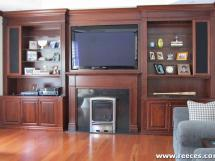 TV over Fireplace--Modern styling for a contemporary look