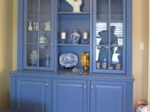 Sideboard in a blue lacquered finish