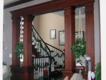Stately Elegance - Classic Enduring Custom Trimwork Custom Partition : Reeece's Woodworking designs: Newmarket, Toronto, GTA, Aurora, Caledon