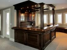 Dark Stain on Oak Finish Home Bar Reeece's beautiful home bars are ideal for entertaining friends, family or guests.