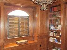 Custom Library with Coffer Ceilings