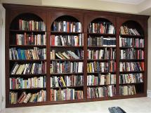 For the Bibliophile, floor-to-ceiling bookshelves store and display all your books with floor to ceiling bookshelves